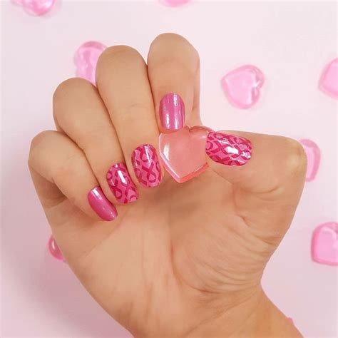 breast cancer pink color 380 best color 100 real nail strips images