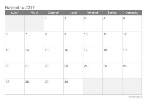 Calendrier Novembre 2017 à Imprimer Calendrier Novembre 2017 224 Imprimer Icalendrier
