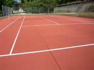 terrain de tennis en b 233 ton poreux int 233 rieur et extr 233 rieur