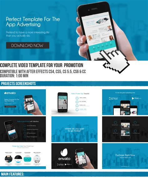 Template For The App Advertising By Jbmotion Videohive After Effects App Template