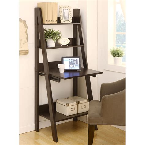 shop enitial lab cappuccino 61 in 4 shelf ladder