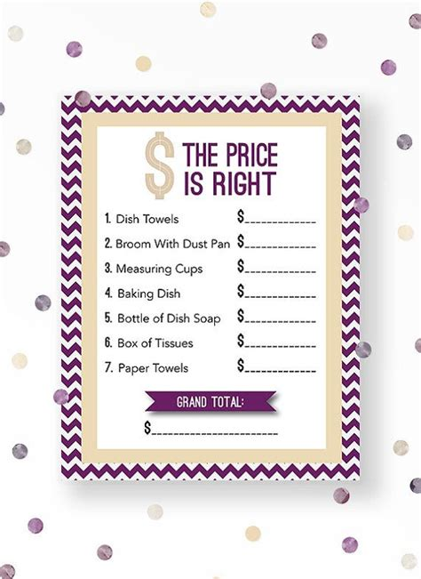 Bridal Shower Price Is Right by 17 Best Images About Bridal Shower On Printable Bridal Shower The And