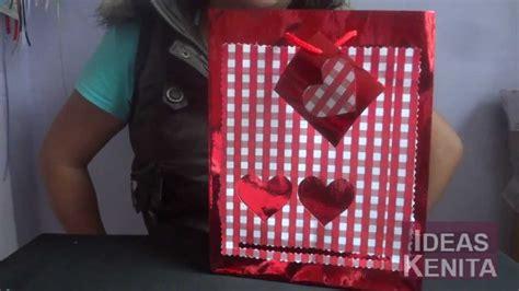 regalos para el dia de san valentin como decorar bolsa de regalo para d 237 a de san valent 237 n