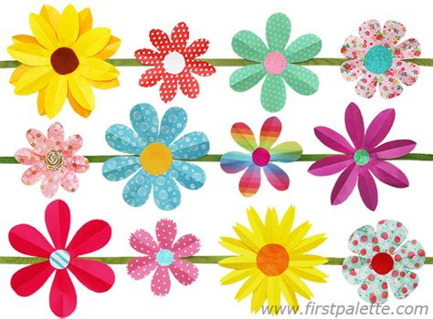 Floral Craft Paper - folding paper flowers craft 6 petal flowers