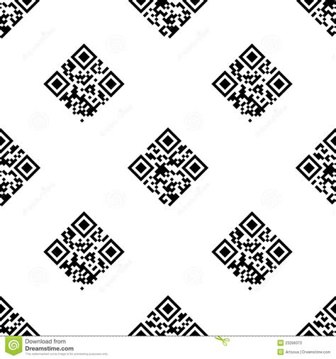 pattern for zip code in html qr code seamless pattern stock photos image 23268373