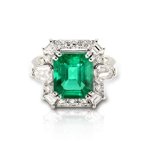 emerald and rings jewelry designs