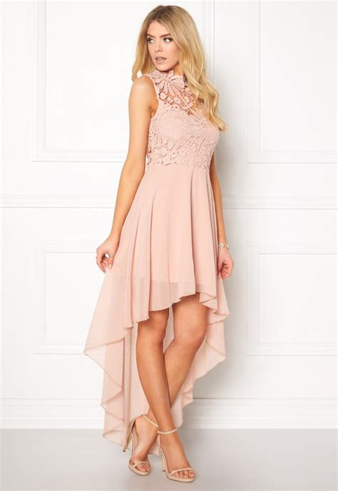 Girly Midi in mind midi lace dress pink bubbleroom