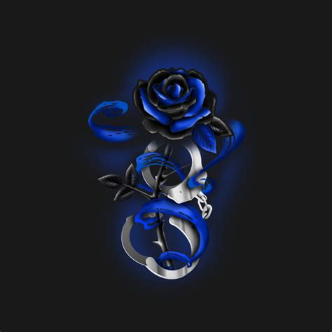 rose tattoo police thin blue line rose tattoo police