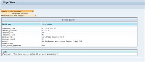 sap rest tutorial how to test rest http client with sap report