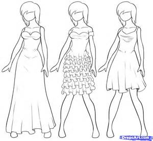 how to draw clothes step by step draw dresses step by