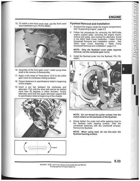 polaris 2 stroke 2007 snowmobile service manual improved