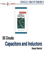 capacitors and inductors in dc eee121 lecture 25 lecture capacitors and inductors 25 introduction capacitors series and