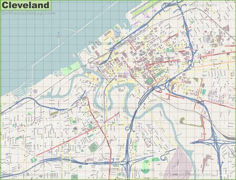 maps cleveland large detailed map of cleveland