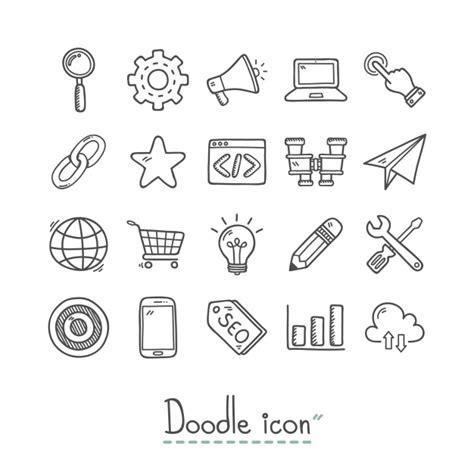 doodle icons free vectors doodle vectors photos and psd files free