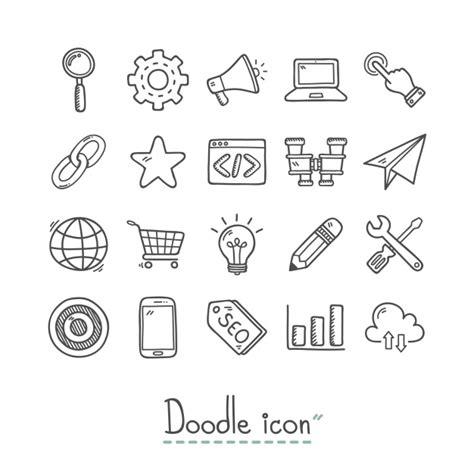 doodle import calendar colecci 243 n de iconos dibujados a mano de negocios