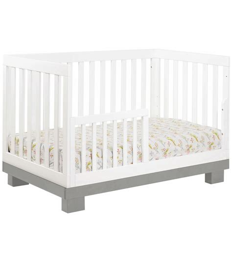 Babyletto Modo 3 In 1 Convertible Crib With Toddler Rail Babyletto Modo 3 In 1 Convertible Crib With Toddler Bed Conversion Kit In Grey And White