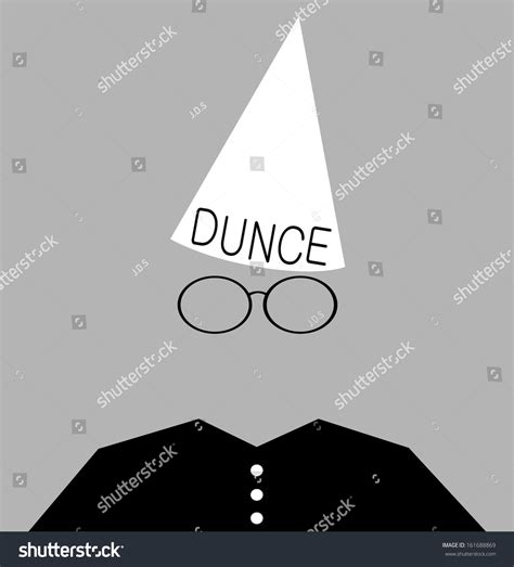 dunce hat template student wearing dunce cap as stock photo