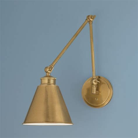 swing arm sconce norwell lighting aidan aged brass swing arm l 8475 ag
