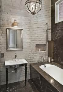Rust Colored Bathroom - 33 bathroom designs with brick wall tiles ultimate home ideas