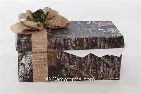 Mossy Oak Gift Card - camo and burlap gift card box camouflage prom wedding homecoming formals
