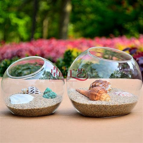 Free Shipping 5pcs Lot Planter Glass Terrarium Glass Fish Fish Tank Planter