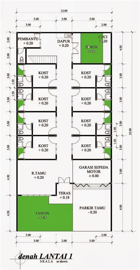 renovasi rumah tipe 70 menjadi kos kosan desain denah rumah terbaru denah rumah minimalis