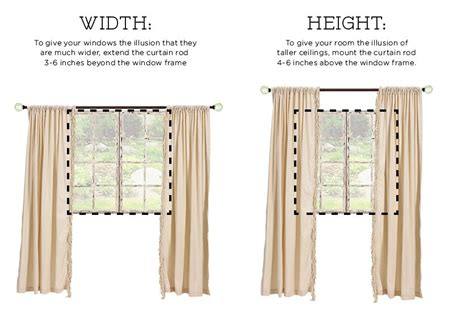 how high curtain rod how to hang drapes how to decorate
