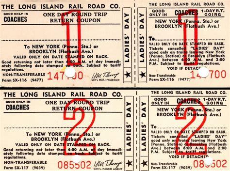 printable lirr tickets railroad net view topic lirr excursion tickets