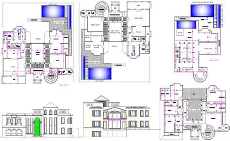 villa layout dwg modern villa