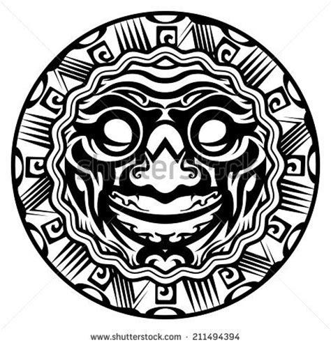 tribal circle tattoo polynesian tribal circles and faces on