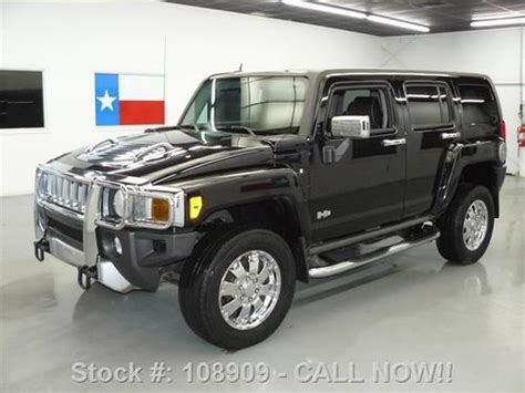 purchase used 2009 hummer h3 lux 4x4 auto htd leather sunroof 54k mi texas direct auto in