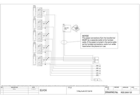 elvox intercom wiring diagram pacific intercom system