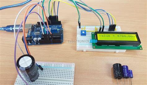 discharge capacitor circuit board arduino capacitance meter