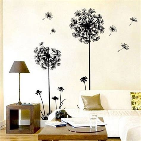 1pc new arrival creative dandelion removable wall stickers