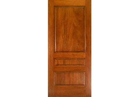Interior Mahogany Doors Interior Transitional Style Mahogany 3 Panel Square Top Door 1 3 4 Quot Stined To Match Floors Or