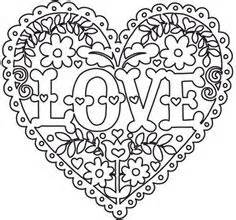 intricate heart coloring pages love and flowers heart