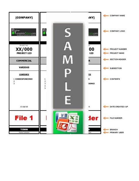 labels for lever arch files templates lever arch file label template project management