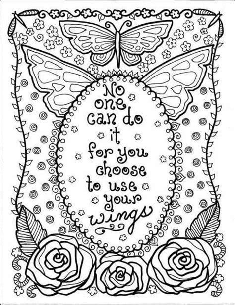 coloring book stress relief patterns inspirational words mandalas animals butterflies flowers motivational quotes books 17 best images about color pages on