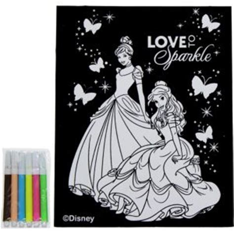 Disney Princess Velvet Coloring Poster With Markers Disney Princess Coloring Poster