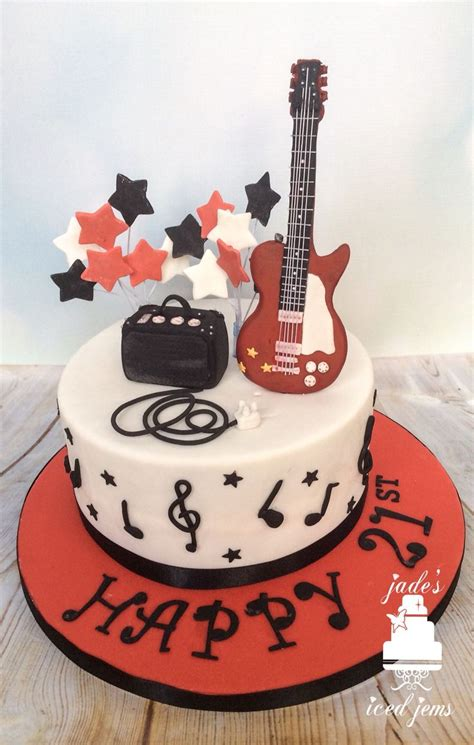 tutorial gitar happy birthday guitar cake music cake 21st birthday cake cakes