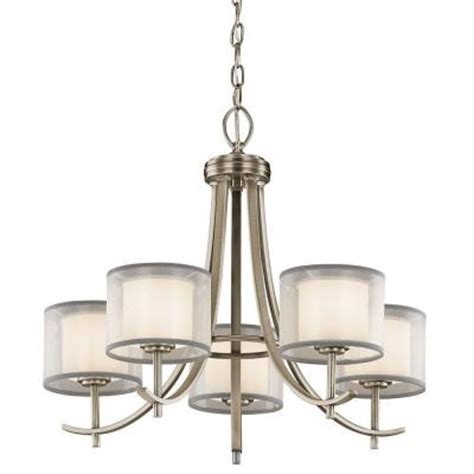 Dining Room Chandeliers Home Depot Hton Bay 5 Light Antique Pewter Ceiling Chandelier 89565 The Home Depot