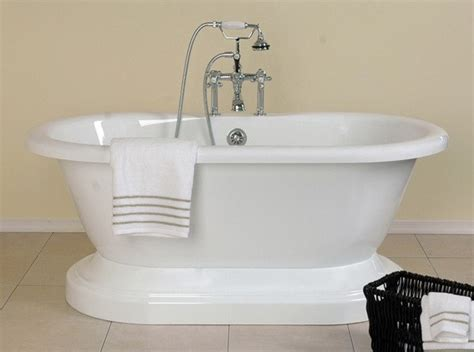60 inch bathtub 60 inch acrylic double ended pedestal tub rim drillings