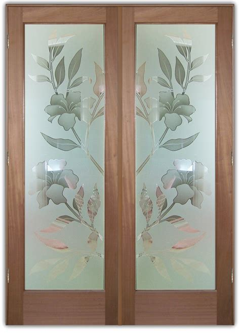 glass doors design images exterior glass doors frosted hibiscus