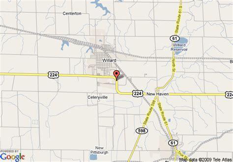 willard ohio map map of country hearth inn willard willard