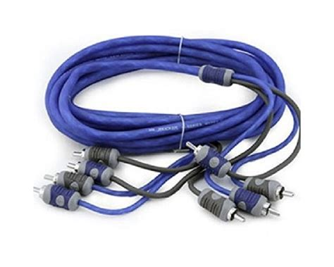 Foss Rca Blue Series 5 Meter kicker ki46 k series 6 meter car stereo rca interconnect cables 4 channel