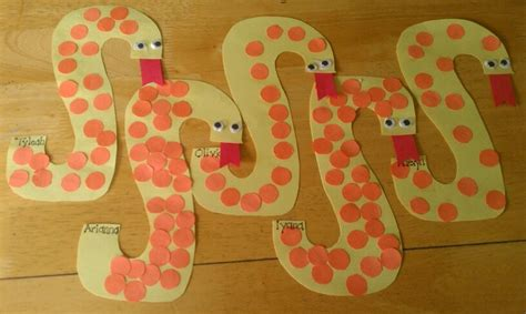 pattern snake kindergarten spotted snakes for the letter quot s quot make them cuter