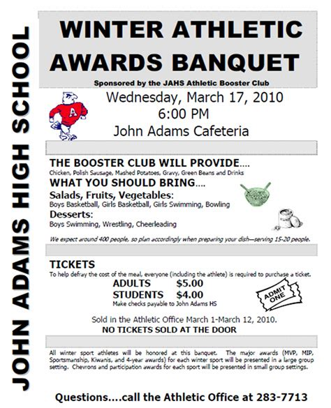 Sports Banquet Program Templates Free Sports Awards Banquet Program Template Athletic Booster Pinterest Football Banquet