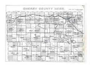Homestead Decor 1938 Cherry County Outline Map Nebraska United States
