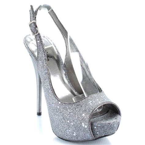 silver sparkle high heels heelsea fashion high heels collection