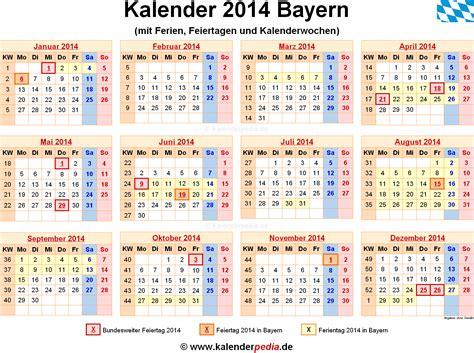 Kalender 2018 Zum Ausdrucken Mit Feiertagen Bayern Ferien Bayern 2014 220 Bersicht Der Ferientermine